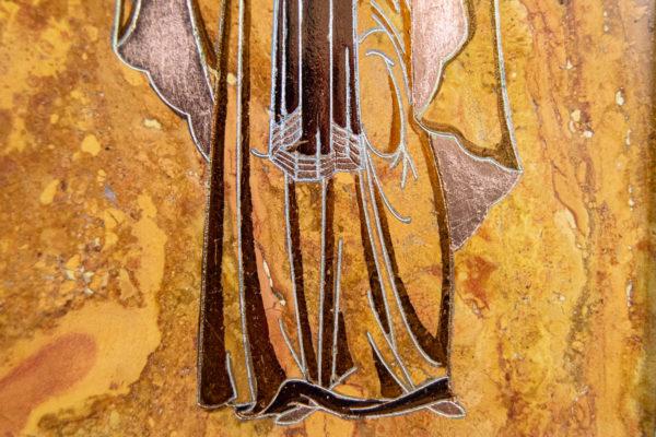 Икона Купятицкой Божией Матери № 02 из камня для храма, на аналой, изображение, фото 13