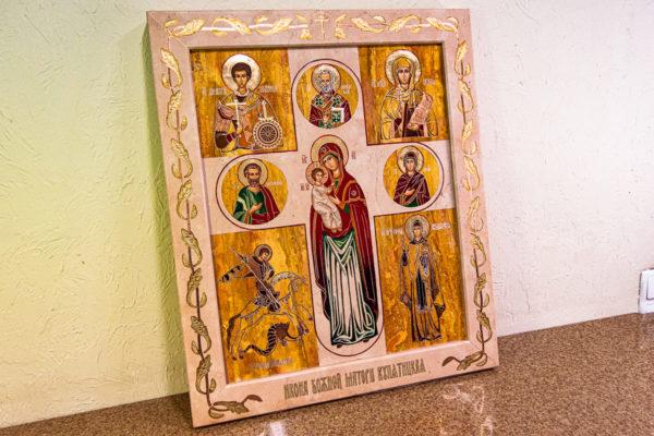 Икона Купятицкой Божией Матери № 02 из камня для храма, на аналой, изображение, фото 16