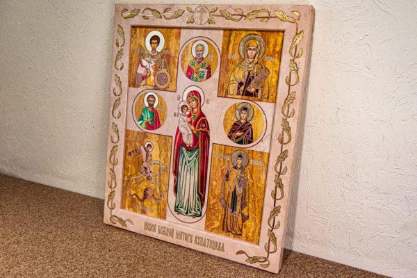 Икона Купятицкой Божией Матери № 02 из камня для храма, на аналой, изображение, фото 17