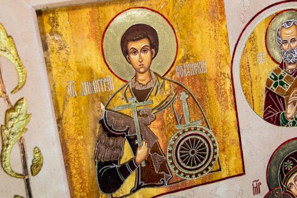 Икона Купятицкой Божией Матери № 02 из камня для храма, на аналой, изображение, фото 18