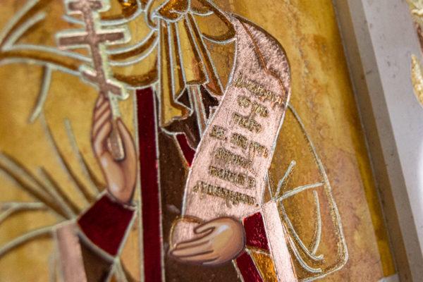 Икона Купятицкой Божией Матери № 02 из камня для храма, на аналой, изображение, фото 20