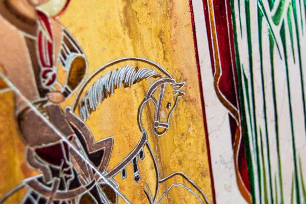 Икона Купятицкой Божией Матери № 02 из камня для храма, на аналой, изображение, фото 21
