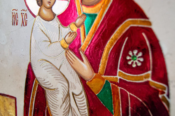 Икона Купятицкой Божией Матери № 02 из камня для храма, на аналой, изображение, фото 22