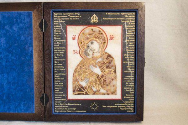 Икона Владимирской Божией Матери № 11 из мрамора, камня, от Гливи, фото 6