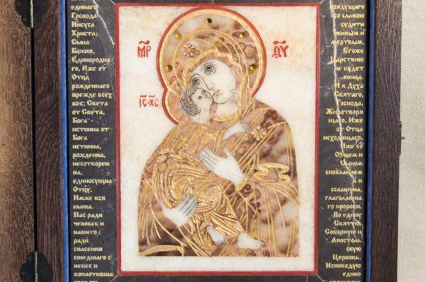 Икона Владимирской Божией Матери № 11 из мрамора, камня, от Гливи, фото 7