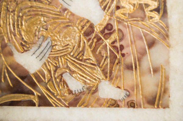 Икона Владимирской Божией Матери № 11 из мрамора, камня, от Гливи, фото 9