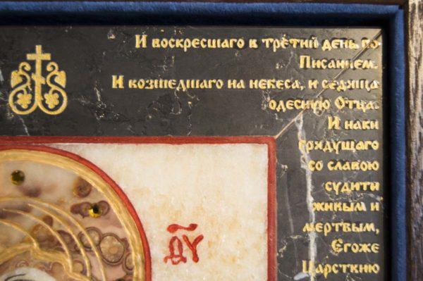 Икона Владимирской Божией Матери № 11 из мрамора, камня, от Гливи, фото 11