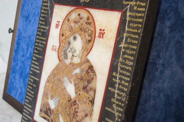 Икона Владимирской Божией Матери № 11 из мрамора, камня, от Гливи, фото 12