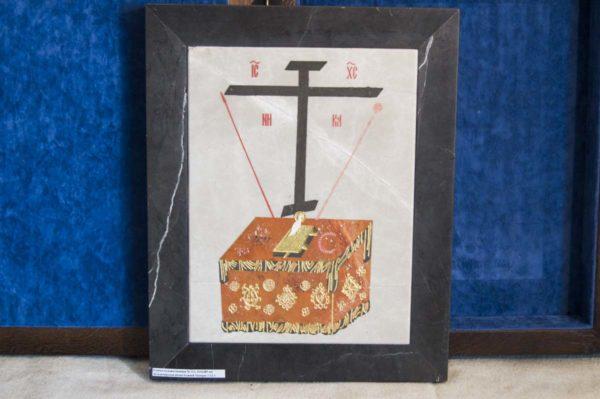 Икона Владимирской Божией Матери № 11 из мрамора, камня, от Гливи, фото 13