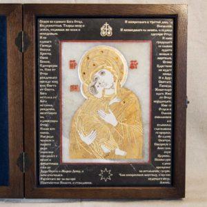 Икона Владимирской Божией Матери № 10 из мрамора, камня, от Гливи, фото 4