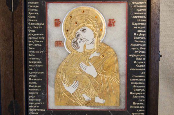 Икона Владимирской Божией Матери № 10 из мрамора, камня, от Гливи, фото 10