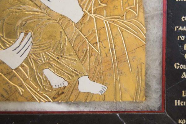 Икона Владимирской Божией Матери № 10 из мрамора, камня, от Гливи, фото 11
