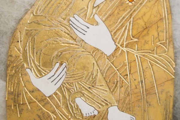 Икона Владимирской Божией Матери № 10 из мрамора, камня, от Гливи, фото 12
