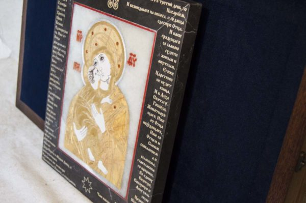 Икона Владимирской Божией Матери № 10 из мрамора, камня, от Гливи, фото 15