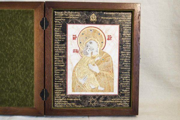 Икона Владимирской Божией Матери № 12 из мрамора, камня, от Гливи, фото 3