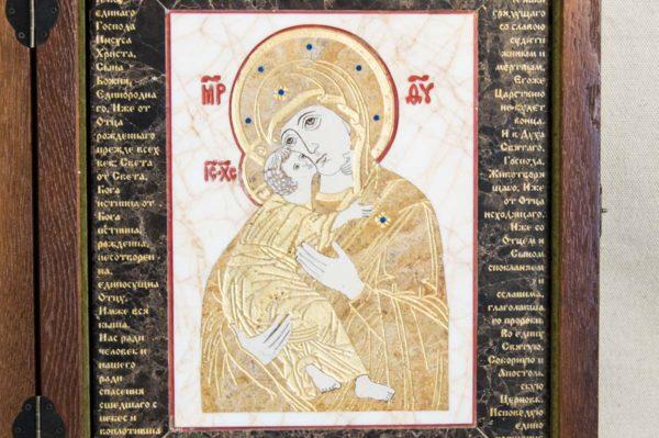 Икона Владимирской Божией Матери № 12 из мрамора, камня, от Гливи, фото 4
