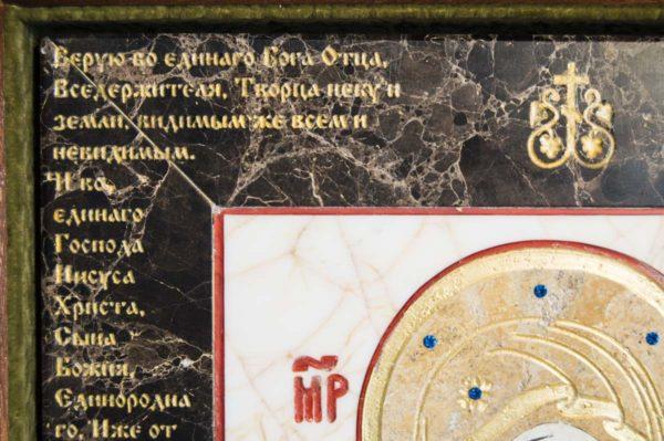 Икона Владимирской Божией Матери № 12 из мрамора, камня, от Гливи, фото 5