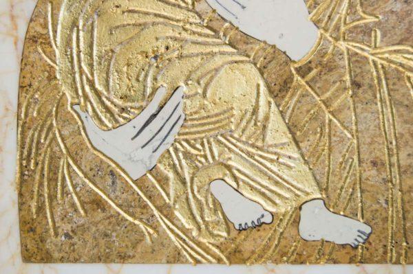 Икона Владимирской Божией Матери № 12 из мрамора, камня, от Гливи, фото 6