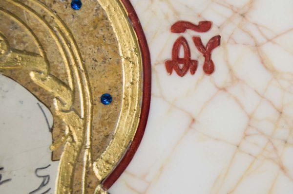 Икона Владимирской Божией Матери № 12 из мрамора, камня, от Гливи, фото 7