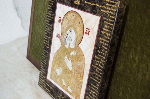 Икона Владимирской Божией Матери № 12 из мрамора, камня, от Гливи, фото 8