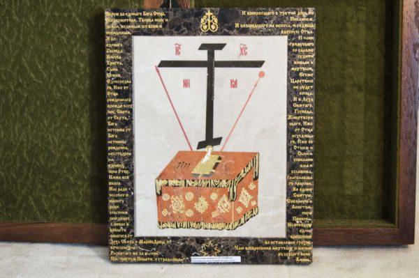Икона Владимирской Божией Матери № 12 из мрамора, камня, от Гливи, фото 9
