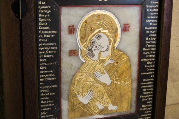 Икона Владимирской Божией Матери № 10 из мрамора, камня, от Гливи, фото 18