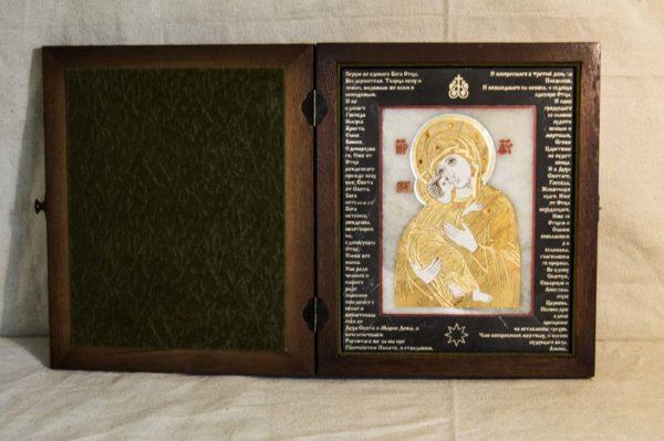 Икона Владимирской Божией Матери № 10 из мрамора, камня, от Гливи, фото 19