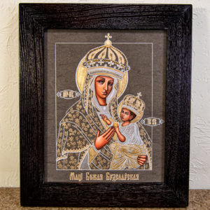 Икона Будславской Божией Матери № 3-05 из камня, каталог икон, изображение, фото 1