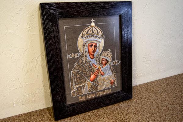 Икона Будславской Божией Матери № 3-05 из камня, каталог икон, изображение, фото 2
