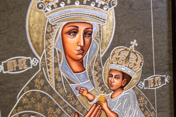 Икона Будславской Божией Матери № 3-05 из камня, каталог икон, изображение, фото 3