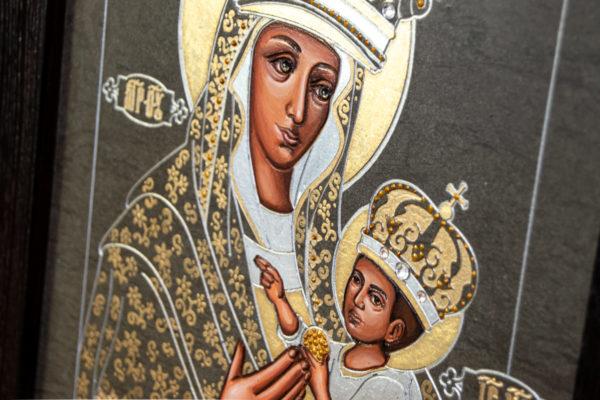 Икона Будславской Божией Матери № 3-05 из камня, каталог икон, изображение, фото 4
