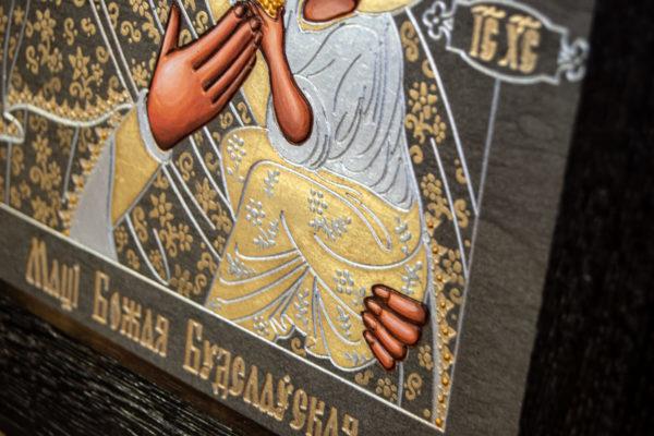 Икона Будславской Божией Матери № 3-05 из камня, каталог икон, изображение, фото 6