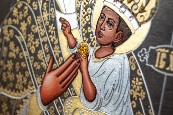 Икона Будславской Божией Матери № 3-05 из камня, каталог икон, изображение, фото 7