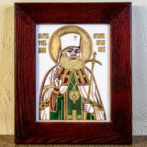 Икона Луки Крымского № 02 из мрамора, камня, каталог икон, фото 1