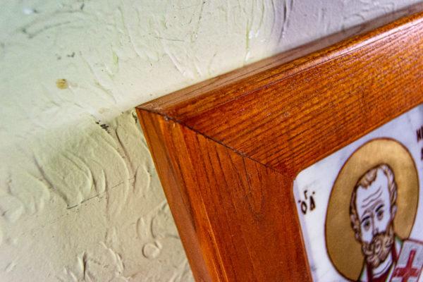 Икона Николая Угодника № 5-29 из мрамоае, малая, подарочная, именная, изображение, фото 7