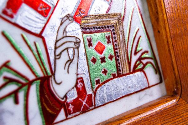 Икона Николая Угодника № 5-29 из мрамоае, малая, подарочная, именная, изображение, фото 8
