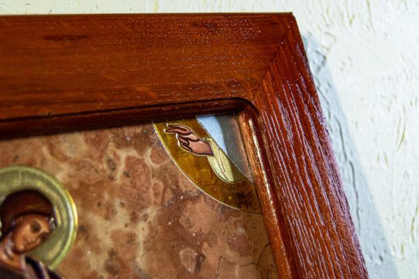 Икона Святого Георгия Победоносца № 04 из мрамора на коне, каталог, изображение, фото 7