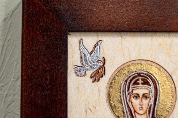 Семейная икона из мрамора - Святые Мелания и Ирина № 01, каталог икон, изображение, фото 4