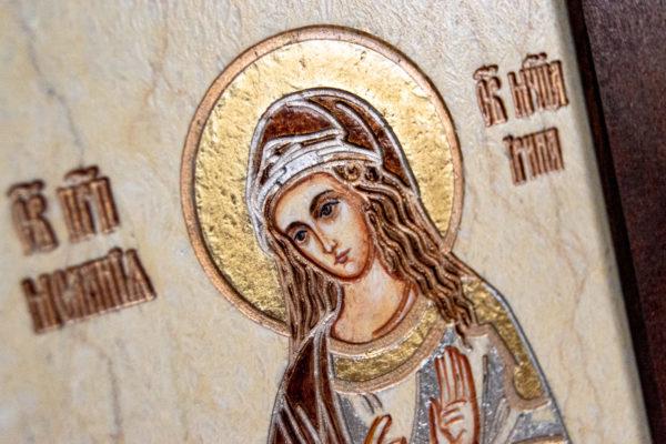 Семейная икона из мрамора - Святые Мелания и Ирина № 01, каталог икон, изображение, фото 5