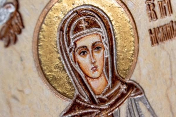 Семейная икона из мрамора - Святые Мелания и Ирина № 01, каталог икон, изображение, фото 6