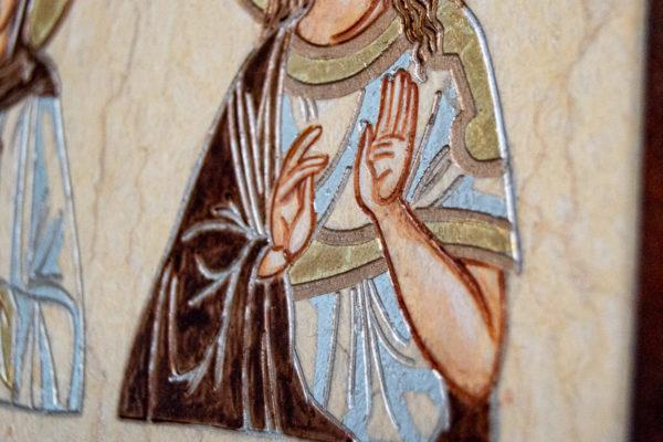 Семейная икона из мрамора - Святые Мелания и Ирина № 01, каталог икон, изображение, фото 8