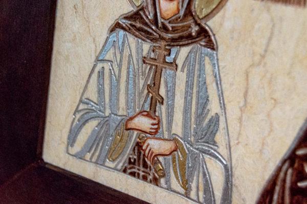 Семейная икона из мрамора - Святые Мелания и Ирина № 01, каталог икон, изображение, фото 9