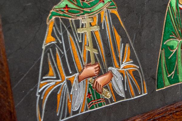 Семейная икона из мрамора - Святые Мелания и Ирина № 02, каталог икон, изображение, фото 6