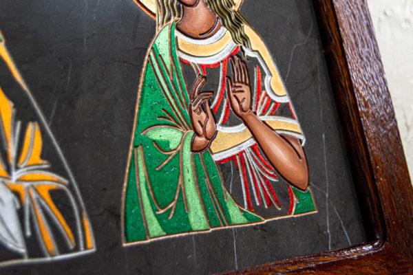Семейная икона из мрамора - Святые Мелания и Ирина № 02, каталог икон, изображение, фото 8