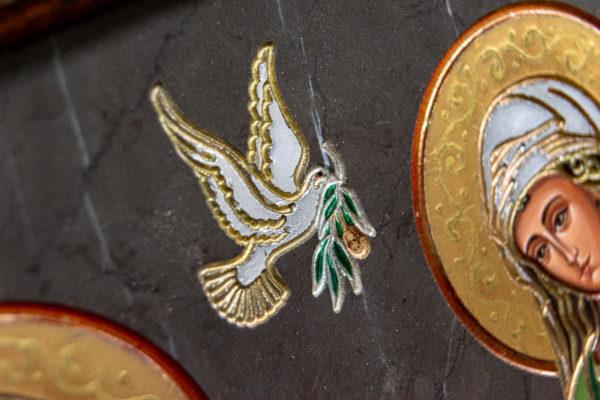 Семейная икона из мрамора - Святые Мелания и Ирина № 02, каталог икон, изображение, фото 9