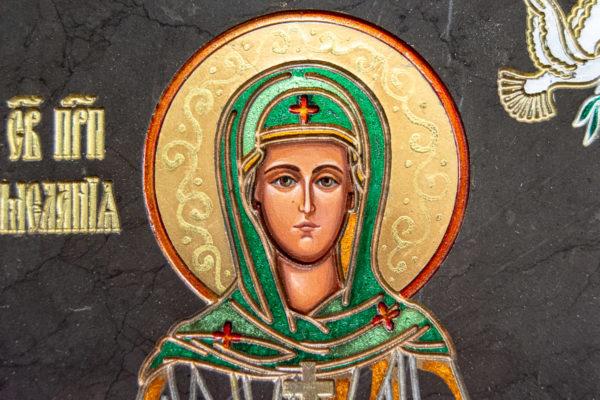 Семейная икона из мрамора - Святые Мелания и Ирина № 02, каталог икон, изображение, фото 10