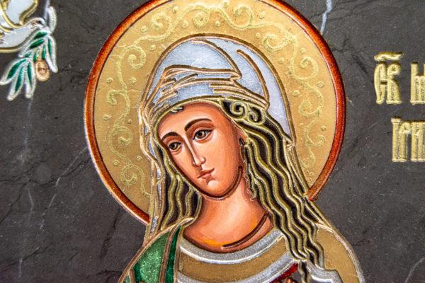 Семейная икона из мрамора - Святые Мелания и Ирина № 02, каталог икон, изображение, фото 11
