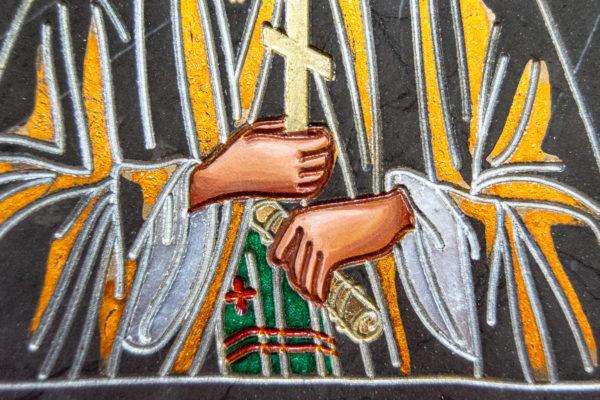 Семейная икона из мрамора - Святые Мелания и Ирина № 02, каталог икон, изображение, фото 12