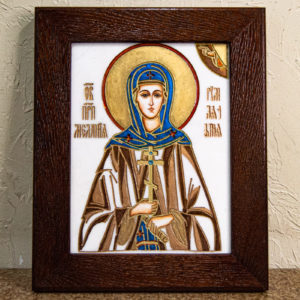 Икона Святой Мелании № 01 из мрамора, каталог икон в интернет-магазине, изображение, фото 1