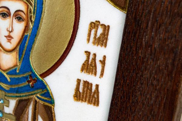 Икона Святой Мелании № 01 из мрамора, каталог икон в интернет-магазине, изображение, фото 8